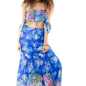 Tropical Dreams Maxi Skirt and Crop Top