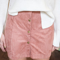 Best Yet Suede Mini Skirt