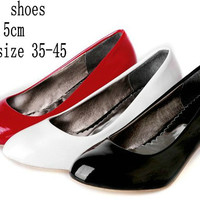 Spring Japanned Leather Pointed Toe Shoes Pumps Women's Wedding High Heel Shoes ladies pumps Office Work Shoes Plus Size Alternative Measures