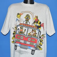 90s Looney Tunes Fire Department t-shirt Extra Large