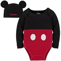 Mickey Mouse Disney Cuddly Bodysuit Set for Baby - Personalizable | Disney Store