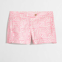 """Factory 3"""" printed stretch chino short : AllProducts   J.Crew Factory"""