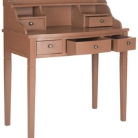Landon Writing Desk Henna Brown
