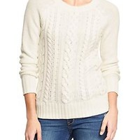 Women's Cable-Knit Crew Sweaters