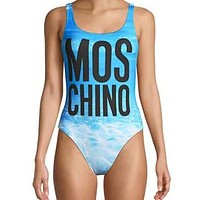 Moschino 2020 new vest style women's sexy one-piece swimsuit