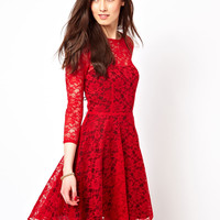 French Connection Lace Evening Dress