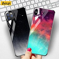 Galaxy Design  Temepered Glass Cover iPhone Case For iPhone 5 5S SE 2020 6 6S 7 8 Plus  X XR XS Max 11 Pro MAX SE 2
