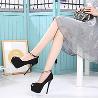 Womens Platform Pumps High Heels Extreme Pumps Women Shoes High Heel Peep Toe Ankle Strap Heels