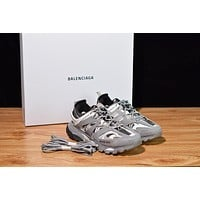 Balenciaga Men's Leather Tess.s.Gomma Sneakers Shoes