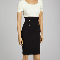 Black & White Color Block Sheath Dress - Women | Daily deals for moms, babies and kids