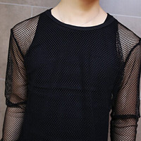 The Netted Long Sleeve Shirt