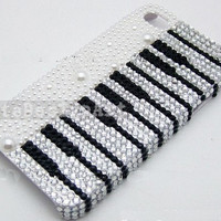 piano iphone 5 case, handmade iphone 4s cases iphone cover skin iphone 4 cases - crystal bling iphone 4 case