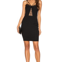 Nightcap by Carisa Rene Delicate Lace Corset Dress in Black