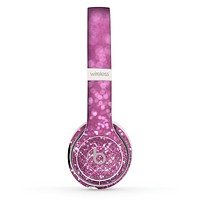 The Pink Unfocused Glimmer Skin Set for the Beats by Dre Solo 2 Wireless Headphones