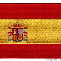 SPAIN FLAG PATCH iron-on embroidered applique Top Quality