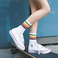 Rainbow Tube Socks