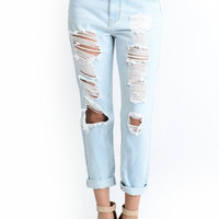 Fave Boyfriend Jeans - Light Wash