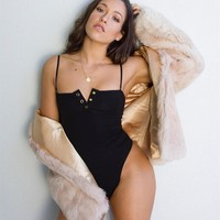 On Sale Hot Deal Cute One-piece Sexy Winter V-neck Exotic Lingerie [488728199222]