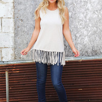 Fringy Layers Muscle Tank