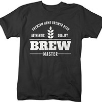 Shirts By Sarah Men's Brew Master Beer T-shirt Home Brewed Beer