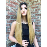 """Ombre Light Blonde Lace Front Wig 24"""" - Angel"""