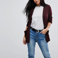 ASOS PETITE Cardigan with Pockets and Buttons at asos.com