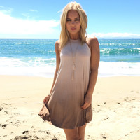 All Star Ombre Dress In Mocha
