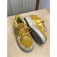 Nike Yellow Air Force Ones (36.5/6.5)