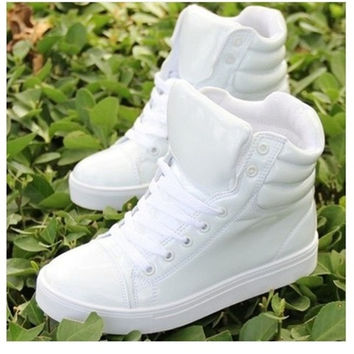 New spring shoes, high-top canvas shoes lovers, casual shoes within the higher student = 1946006212