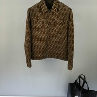 2019 Fendi autumn and winter new men and women sweater  trend couple models print