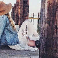 sitting on the dock of the bay by ashleyglynn on Free People