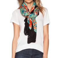 Marc by Marc Jacobs Spliced Jerrie Rose Scarf in Green