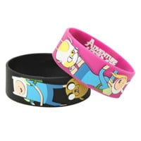 Adventure Time Finn Jake Fionna Cake Rubber Bracelet 2 Pack
