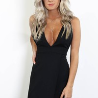 You Won't Forget Black Strappy Dress