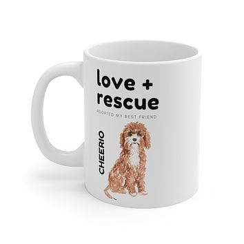 love + rescue Mug — Cavapoo