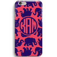Tusk In Sun Elephant Monogram Inspired Lilly Pulitzer iPhone 6 Case, iPhone 5S Case
