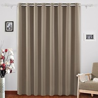 Deconovo Blackout Curtains Grommet Top Drapes Wide Width Curtains for Girls Room 100 x 95 Inch Khaki 1 Panel