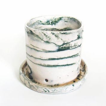 Marbled Table Top Planter