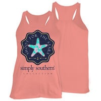 Simply Southern Preppy Shoot For The Stars Starfish Unisex Tank Top
