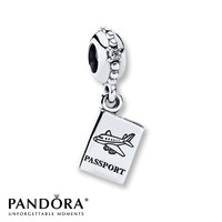 Pandora Dangle Charm Clear CZ Sterling Silver