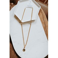 Round Pendent Chain Necklace