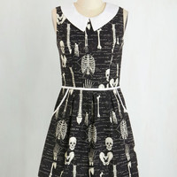 Quirky Mid-length Sleeveless A-line Rad to the Bone Dress