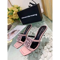 Alexander Wang Popular Summer Women's Flats Men Slipper Sandals Shoes
