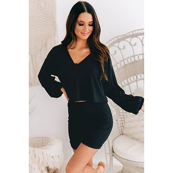 On A High Note Two Piece Set (Black)