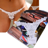 Sexy Women Charming Mash Crystal Lace Thong Lingerie Panties Underwear = 1933056772