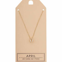April Birthstone Necklace - Clear