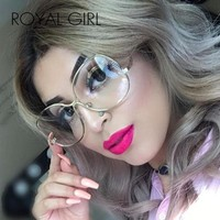 ROYAL GIRL Vintage Collection Women Clear Lens Oversize Glasses