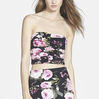 Women's Leith Print Ruched Floral Tube Top