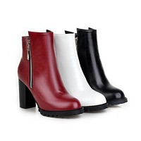 Rount Toe Ankle Boots High Heels Women Shoes Fall|Winter 4381