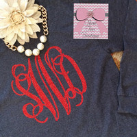 Monogram T-Shirt Oversized Monogram Long Sleeve TShirt Preppy Monogram Tee Monogrammed T Shirt Monogrammed Gifts Perfect for Bridesmaid